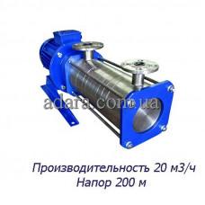 Насос ЦНС 20-200 центробежный секционный (ЦНС-20/200) пищевая нержавеющая сталь