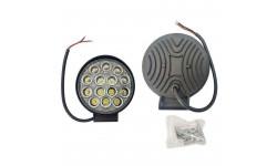 Фара LED круглая 42W, 14 ламп,  5D <ДК>