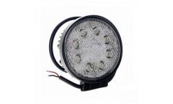 Фара LED круглая 24W, 8 ламп, 110*128мм, широкий луч <ДК>