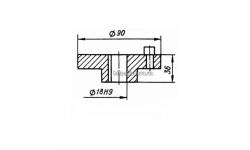 Полумуфта КШП-3 03.04.53/1 (погрузчик Р6-КШП-6) с пальцами
