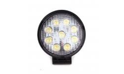 Фара LED круглая 27W, 9 ламп, 110*128мм, широкий луч <ДК>