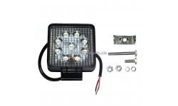 Фара LED квадратная 27W, 9 ламп, 110*164мм, широкий луч 12/24V 6000K (ТМ JUBANA)