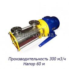 Насос ЦНС 300-60 центробежный секционный (ЦНС-300/60) пищевая нержавеющая сталь