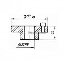Полумуфта электродвигателя КШП-3 01.00.05/4 (погрузчик Р6-КШП-6) d=22
