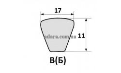 Ремень В(Б)-2240 (ЗМ-60, ЗМ-60А, ОВС-25) клиновой EXCELLENT