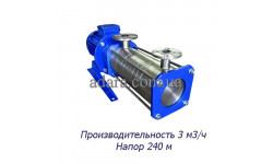 Насос ЦНС 3-240 центробежный секционный (ЦНС-3/240) пищевая нержавеющая сталь