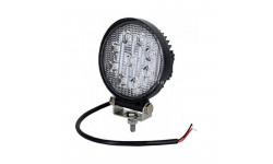 Фара LED круглая 27W, 9 ламп, 110*128мм, широкий луч 12/24V 6000K (ТМ JUBANA)