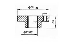 Вал-шестерня КШП-3М 03.04.40М (погрузчик Р6-КШП-6) z=14, m=5