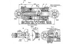 Гидроцилиндр поворота 2256010-34.29.000-02 (реставрированный)