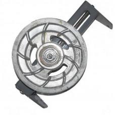 Шкив натяжной привода соломотряса в сборе с кронштейном Дон-1500