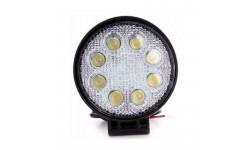 Фара LED круглая 24W, 8 ламп, 110*128мм, узкий луч <ДК>