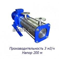Насос центробежный секционный ЦНСк-3-200 (ЦНС-3/200) пищевая нержавеющая сталь