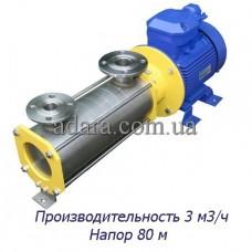 Насос центробежный секционный ЦНСк-3-80 (ЦНС-3/80) пищевая нержавеющая сталь