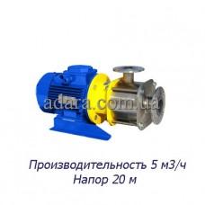 Насос центробежный секционный ЦНСк-5-20 (ЦНС-5/20) пищевая нержавеющая сталь