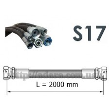 Рукав высокого давления РВД (1SN, S17 (ключ 17), длина 2.0 метра)