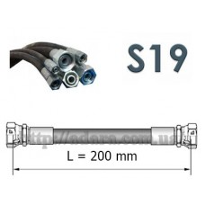 Рукав высокого давления РВД (1SN, S19 (ключ 19), длина 0,2 метра)
