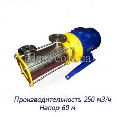 Насос ЦНС 250-60 центробежный секционный (ЦНС-250/60) пищевая нержавеющая сталь
