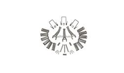 Ремкомплект корзины сцепления МТЗ-80, МТЗ-82 (Д-240) полный
