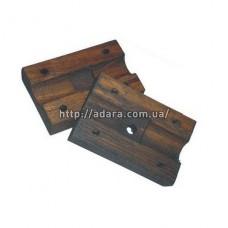 Полуподшипник граблины деревянный комплект из двух частей в сборе