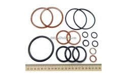 Ремкомплект гидроцилиндра поворота Т-150К, Т-151К (шток d-45) Ц80х45х280 (резиновые манжеты)