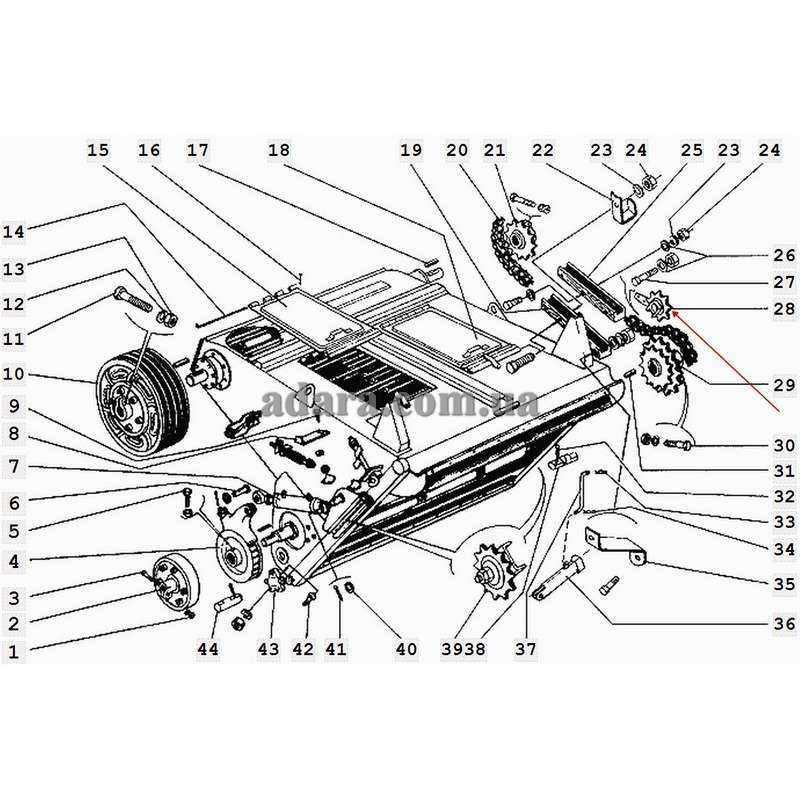 Звездочка Z-14 t-25.4 натяжная конприводного вала с кронштейном 3518060-18380Б комбайна ДОН-1500