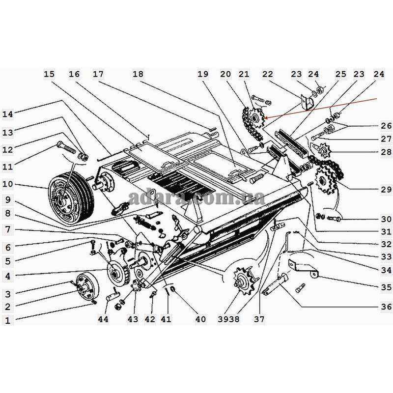 Звездочка Z-20 t-25.4 транспортера наклонной камеры 3518060-18440А комбайна ДОН-1500